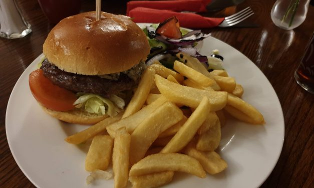 The Winchester Arms, Trull, Venison and Blue Cheese Burger