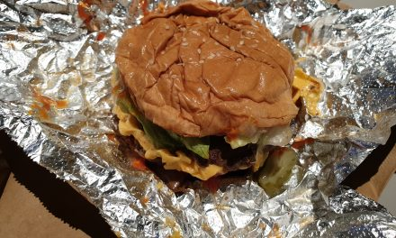 Five Guys, Manchester, Double Cheeseburger
