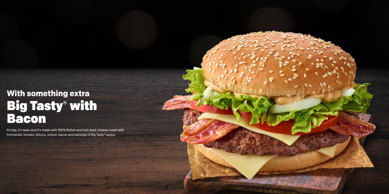Big Tasty with Bacon Replaces Big Mac With Bacon