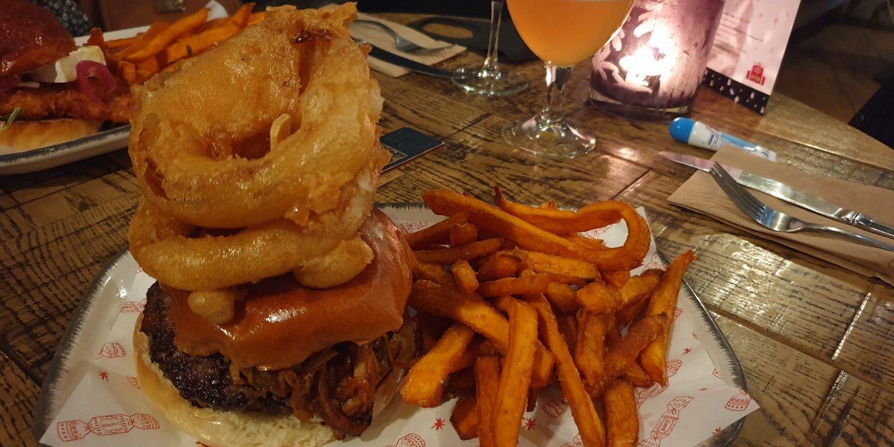 Double decker with Pulled Pork Burger, Hubbox Taunton