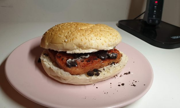 McDonald's (style) Spam and Oreo Burger, with recipe.